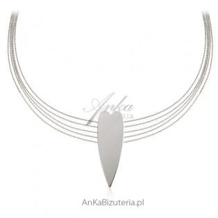 Ekskluzywna biżuteria włoska Naszyjnik srebrny serce