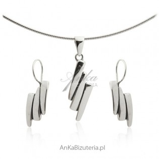 Komplet biżuteria srebro - Stawiam na klasykę!