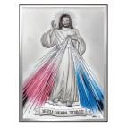 Obrazek srebrny Jezu Ufam Tobie 9 cm* 13 cm