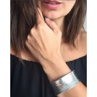 Piękna bransoletka srebrna Szeroka bransoletka