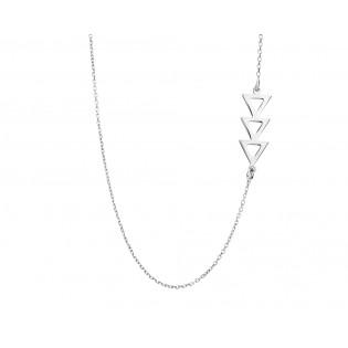 Naszyjnik srebrny trzy trójkąty