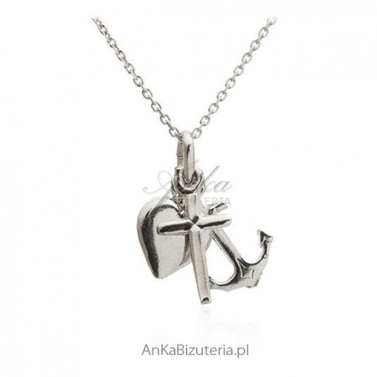 Wiara Nadziej Miłość - Zawieszka srebrna