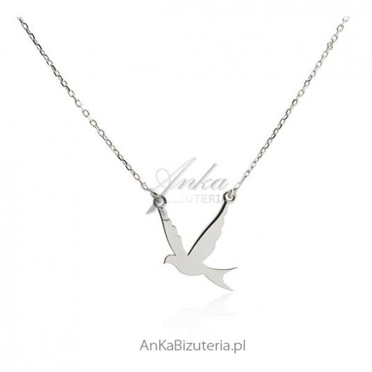 Naszyjnik srebrny jaskółka - biżuteria włoska