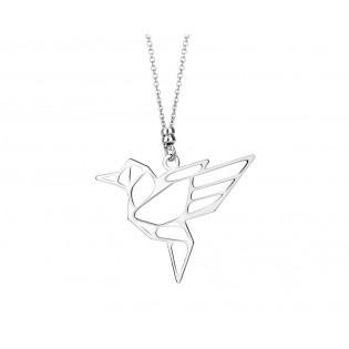 Naszyjnik srebrny origami Rajski Ptak