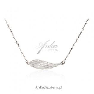 Naszyjnik srebrny Skrzydło Anioła - Modna biżuteria srebrna