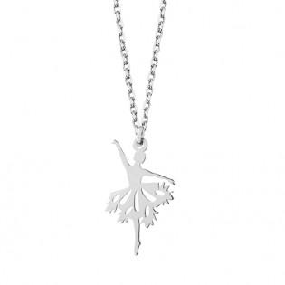 Naszyjnik srebrny Baletnica - naszyjnik origami