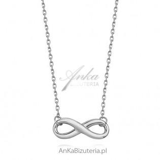 Naszyjnik srebrny nieskończoność - Modna biżuteria