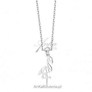 Naszyjnik srebrny Flaming - ażurowa celebrytka