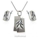 Komplet biżuteria srebrna Na Prezent