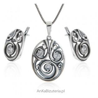 Biżuteria srebrna na prezent komplet