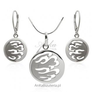 Biżuteria srebrna komplety - Piękna bizuteria srebrna