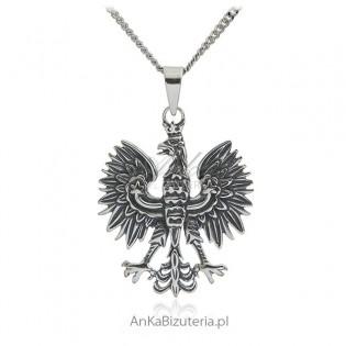 Srebrny orzeł - zawieszka srebra