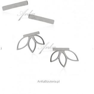 Kolczyki srebrne - podusznice