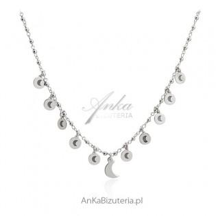 Srebrny naszyjnik choker - Modna biżuteria włoska