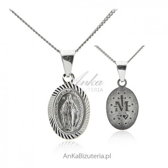 Medalik srebrny Matka Boska Cudowna - srebrny medalik