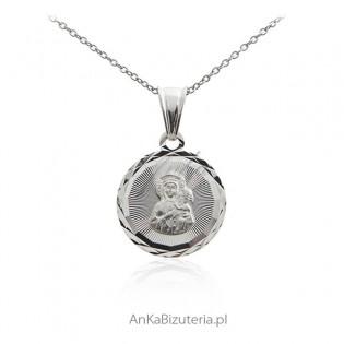Srebrny medalik Matka Boska Częstochowska - Piękny