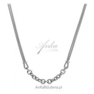 Naszyjnik srebrny włoska calza z grubym łańcuszkiem