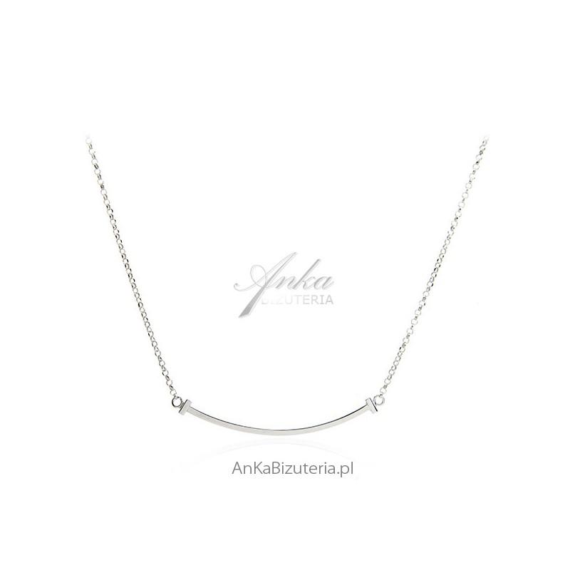 biżuteria srebrny łańcuszek delikatny rodowany