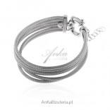 Elegancka biżuteria srebrna bransoleta calza- biżuteria włoska
