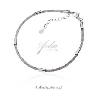 Bransoletka srebrna włoska calza - Biżuteria na prezent