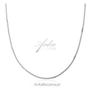 Naszyjnik srebrny calza rodowany - Włoska biżuteria