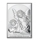 Pamiątka Chrztu Świętego - Obrazek srebrny