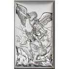 Archanioł Michał 6,5 cm*11 cm - Srebrny obrazek