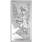 Pamiątka dla dziecka na Chrzest, Komunie - Obrazek srebrny