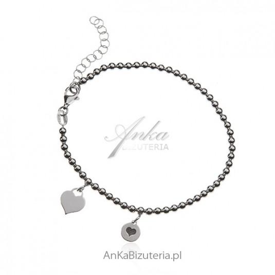 Chwalebne Bransoletka srebrna z przywieszkami Modna biżuteria srebrna IR27