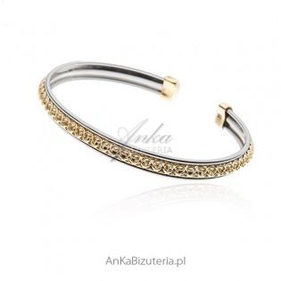 Bransoletka srebrna pozłacana - biżuteria artystyczna