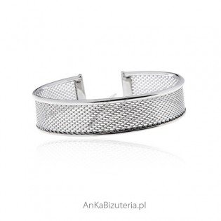Bransoletka srebrna szeroka - Elegancka biżuteria srebrna