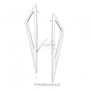 """Długie kolczyki srebrne """"Geometric design"""""""