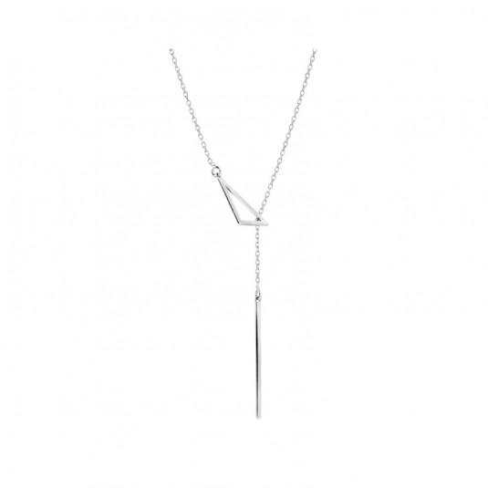 Naszyjnik srebrny krawat - Modna biżuteria