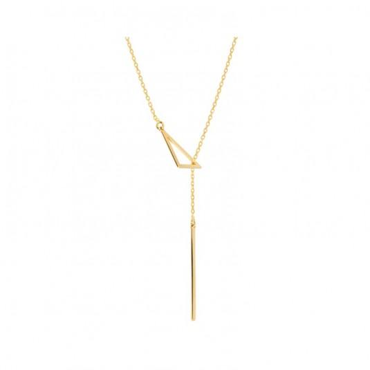 Naszyjnik srebrny pozłacany krawatka 40 - 45 cm