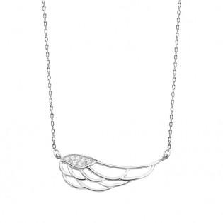 Naszyjnik srebrny skrzydło anioła - naszyjnik z cyrkoniami