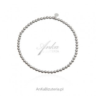 Bransoletka srebrna z kuleczek - modna biżuteria włoska