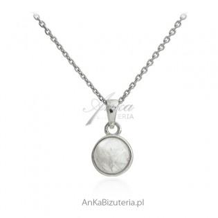 """Biżuteria srebrna - zawieszka z kamieniem księżycowym """"Blue Moon"""""""
