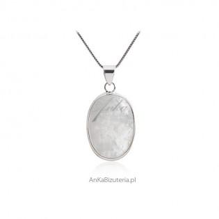 Biżuteria srebrna z kamieniem księżycowym - Rozm. M