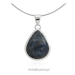Srebrna biżuteria - zawieszka srebrna z kamieniem Pietrsite