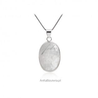 Biżuteria srebrna z kamieniem księżycowym -Rozm. S