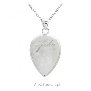 Biżuteria srebrna - zawieszka z kamieniem księżycowym