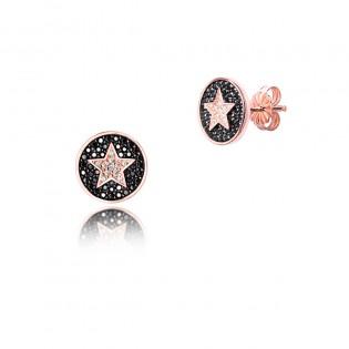 Kolczyki srebrne gwiazdki na sztyfcie - Modna biżuteria włoska DallAcqua