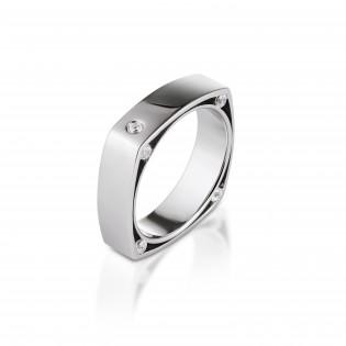 Srebrny pierścionek - Geometric - Oryginalny pierścionek