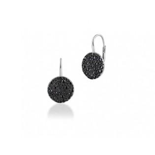 Kolczyki srebrne z czarnymi cyrkoniami - piękna biżuteria