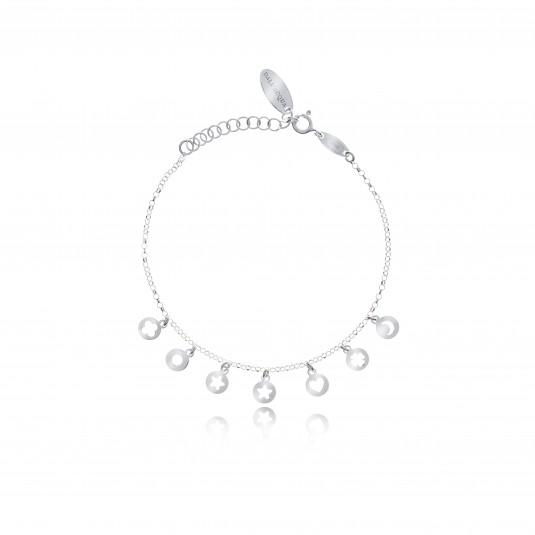 Bransoletka srebrna z przywieszkami - Biżuteria Dallaqua