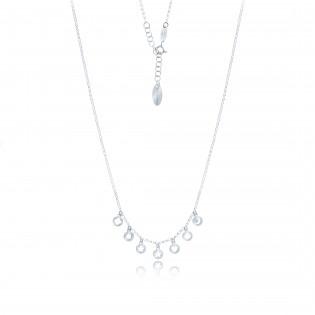 Naszyjnik srebrny z delikatnymi przywieszkami - biżuteria Dall'Acqua.
