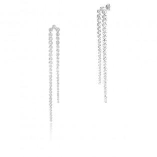Piękne kolczyki srebrne - Kolekcja Ślubna -Dallacqua