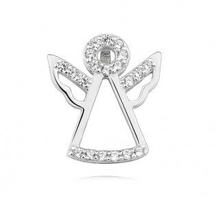 Biżuteria srebrna ANIOŁEK z cyrkoniami - Subtelna zawieszka srebrna
