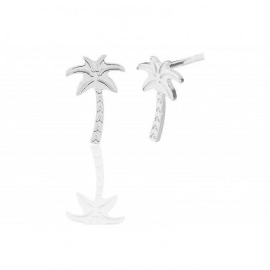 Kolczyki srebrne - PALMY - biżuteria włoska rodowana