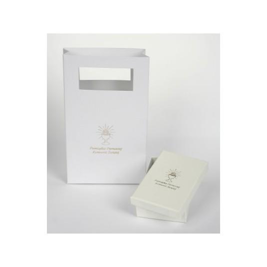 Zestaw komunijny - Pudełko jubilerskie z torebeczką